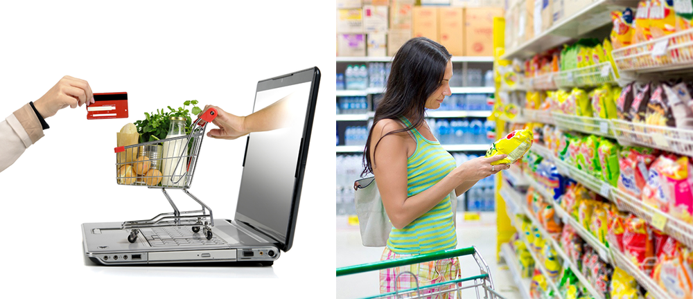 What's your pick? Staying busy with traditional marketing or opting hassle free online grocery shopping.